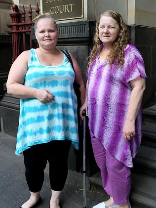 Mother and daughter Sharyn Gray and Jessica Gray outside the Supreme Court earlier this y