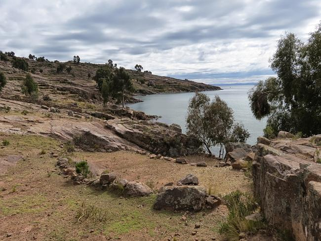 A grey sky afternoon at Taquile Island in the middle of Lake Titicaca.
