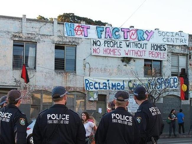 Police evicted squatters on Thursday.