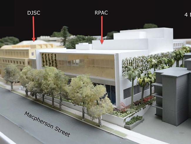 The proposed development would double the height of some of the existing buildings.