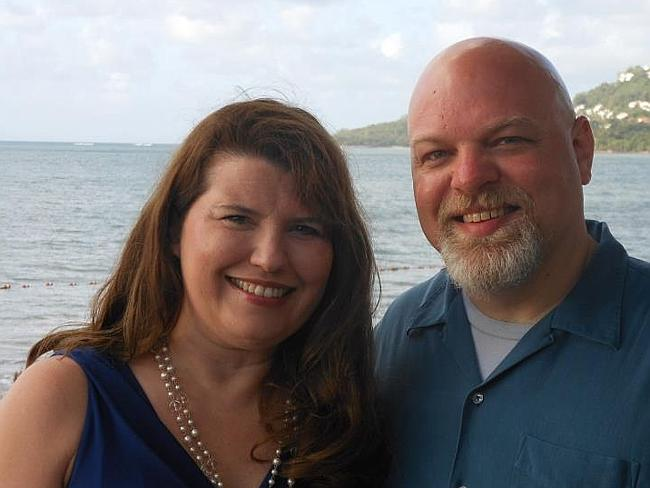 Christians ... Carla Wood Alcorn with a man believed to be her husband. Picture: Facebook