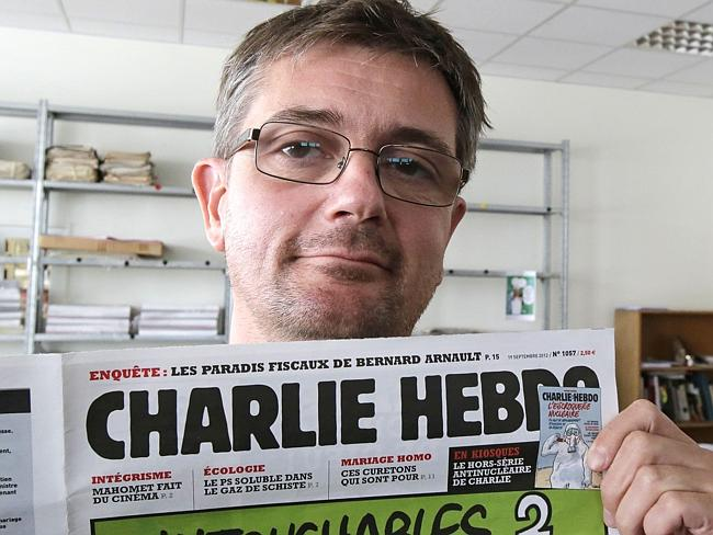 """Editor Stephane Charbonnier, known as """"Charb"""" was killed in the attack. Picture: Michel E"""