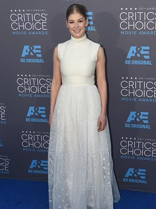 Actress Rosamund Pike arrives for the 20th Annual Critics Choice Awards, January 15, 2015