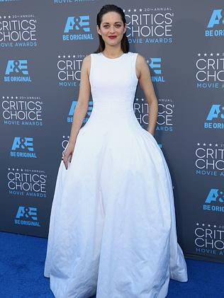 Marion Cotillard arrives at the 20th annual Critics' Choice Movie Awards at the Hollywood