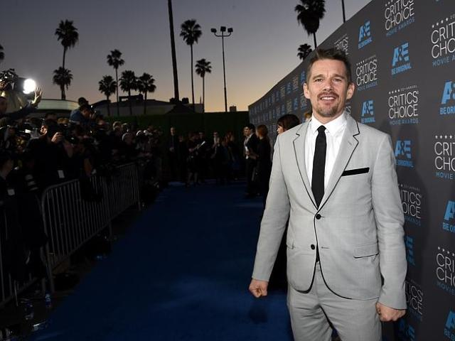 Ethan Hawke on the photo wall.