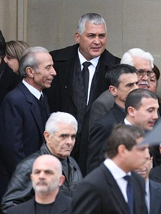 Mick Gatto at his funeral.