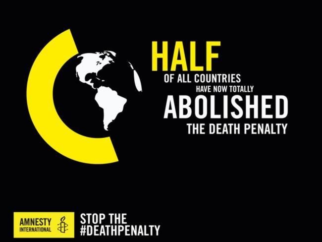 Amnesty International has called for a complete abolition of executions worldwide. Pictur