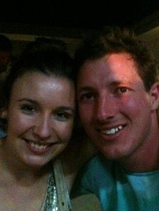 Facebook image of Ms Scott,and husband-to-be Aaron Woolley.