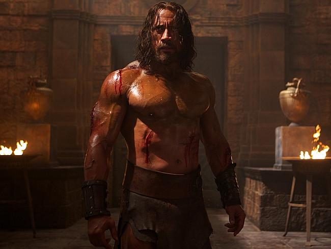 The Rock in Hercules. He didn't get this way from eating salad.