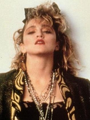 Madonna shows off her Desperately Seeking Susan attitude.