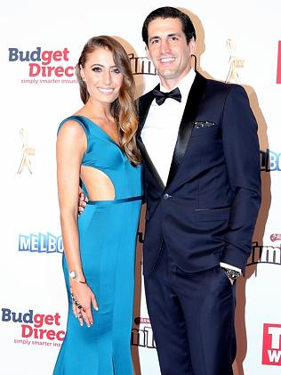 Andy Lee with Rebecca Harding at the Logies