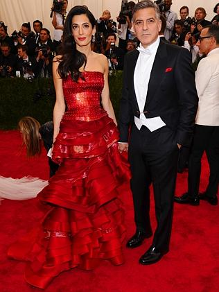 Amal Clooney and George Clooney at The Met Gala