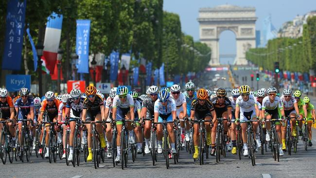 Riders in action during 'La Course by Le Tour de France' in Paris, France. Picture: Getty