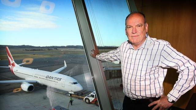 John McCormick Former head of the Civil Aviation Safety Authority, at Canberra Airport. P