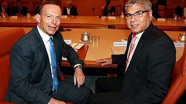 Tony Abbott and Warren Mundine.