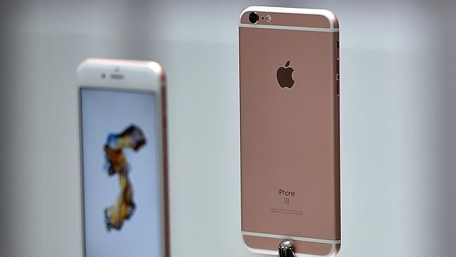 The new Rose Gold colour is expected to be popular. Source: AFP