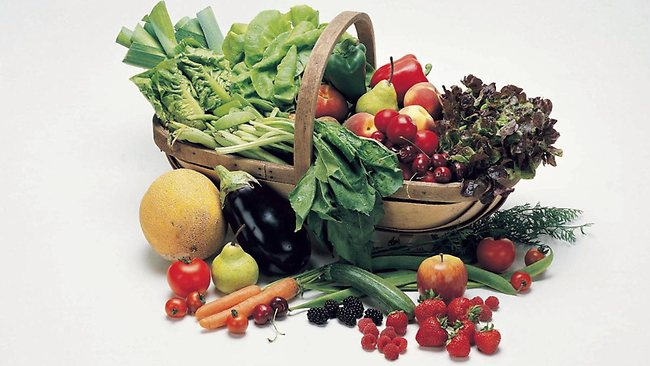 Fruit and vegetables are great for good health.