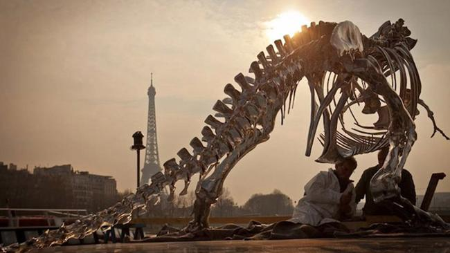 A t-rex invades Paris. Picture: Philippe Pasqua