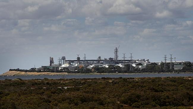 Alcoa's ageing Point Henry aluminium smelter in Geelong, Victoria. Picture: Stuart McEvoy