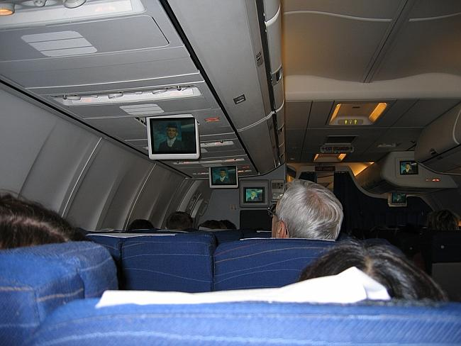 Entertainment screens above. Picture: Mroach