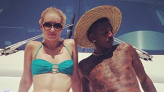 Cute couple ... Iggy Azalea boyfriend Nick Young on vacation in Mexico earlier this year