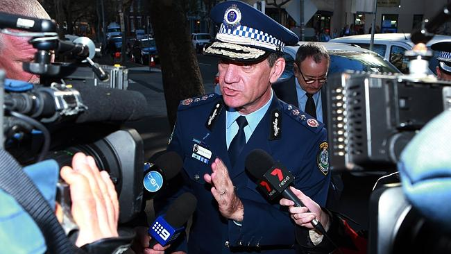 NSW Police Commissioner Andrew Scipione arrives at the Sydney Police Centre in Surry Hill