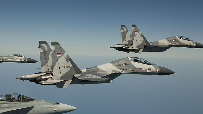 Air space ... Indonesian Sukhoi fighter jets have reportedly forced an Australian civilia