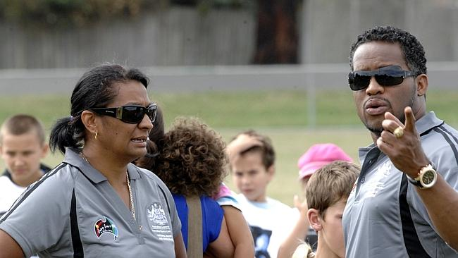 Former world 200m sprint champs Ato Bolden and Olympic champ and now senator Nova Peris h