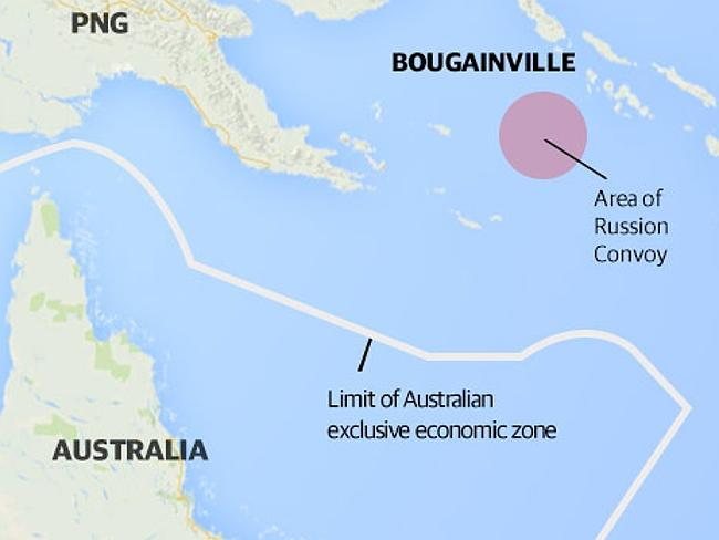 Australian naval vessels are on their way to th Coral Sea