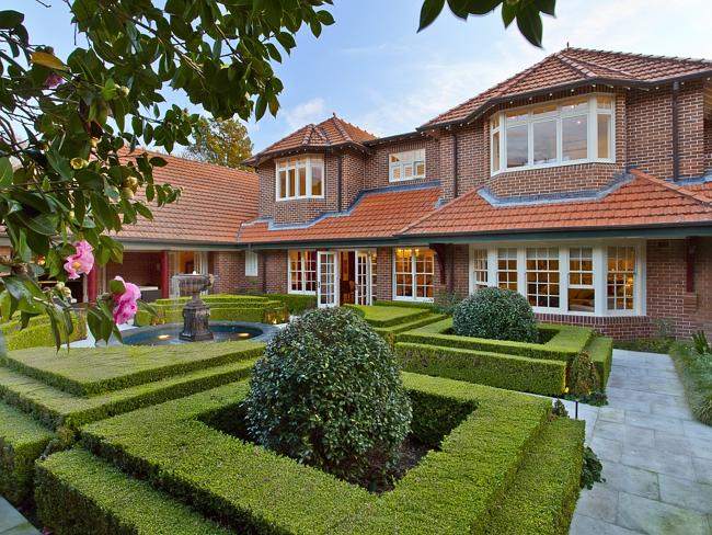 The property is expected to surpass the current upper north shore record of $11.5 million.This is a classic Federation garden with specimin trees and box hedging.Source: Supplied