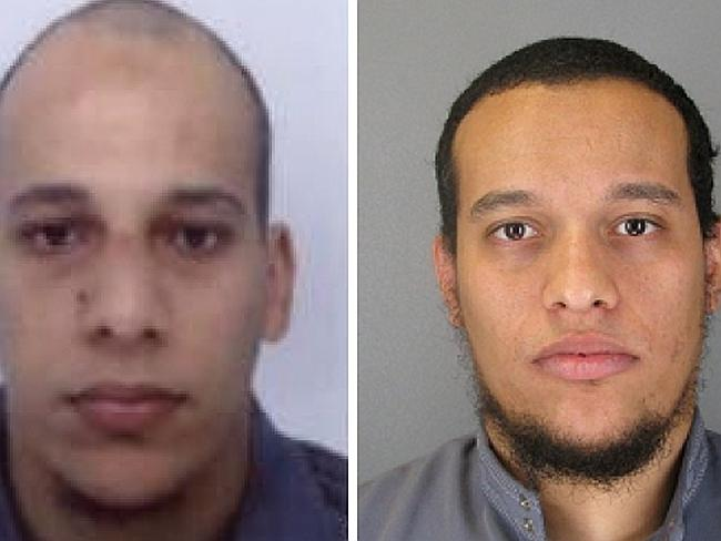 French police have released new photographs of the wanted brothers: Cherif Kouachi (left)