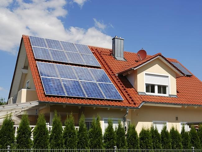 Increasingly people are turning to solar panels to combat rising electricity costs. Pictu