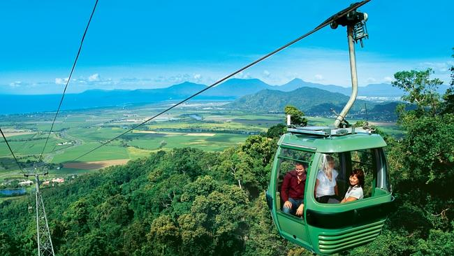 The proposed Gold Coast Skyride cableway, like this one in Cairns, will be buried if Labo