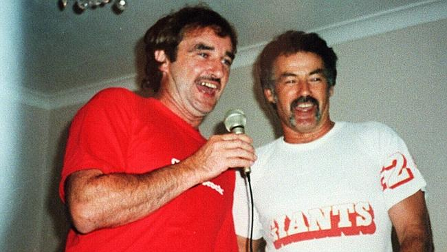 Love of guns ... Richard Milat with his brother Ivan.