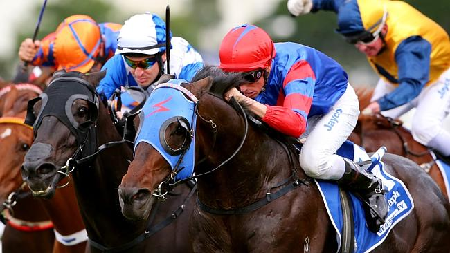 Pierro wins the George Ryder Stakes in his famous colours for high-profile owner Greg Kol
