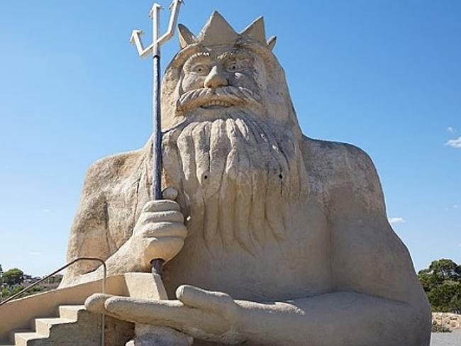 King Neptune has been restored to its former glory.