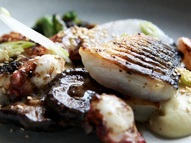 Undercover foodies must know their seafood, like Cutler & Co's rock flathead with seaweed
