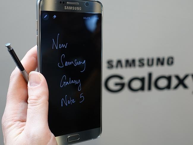 Take note ... The Samsung Galaxy Note 5 smartphone will let users write notes on its stan