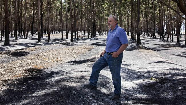 Volunteer Neville Shepherd is angry with the lack of fire trucks in the area. Picture: Ch