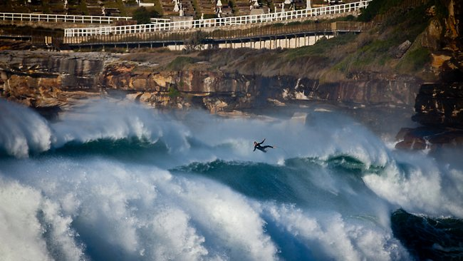 Wild ride ... surfer Ben Macartney at Bronte / Pic: www.frothers.com.au Source: The Daily Telegraph