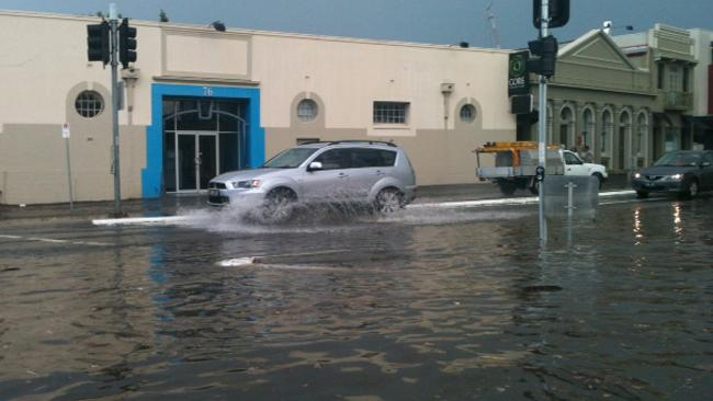 Flooding at Fortitude Valley
