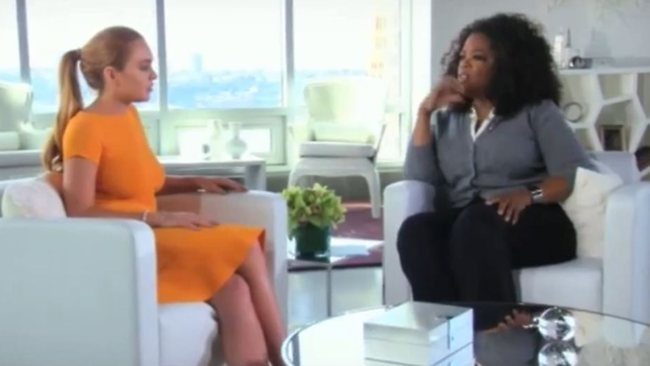 725322 oprah winfrey and lindsay lohan Oprah Winfrey to Lindsay Lohan: Are you an addict?