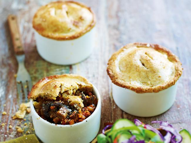 Delicious mushroom and brazil nut pies. Picture: From 50 Foods That Will Change Your Life