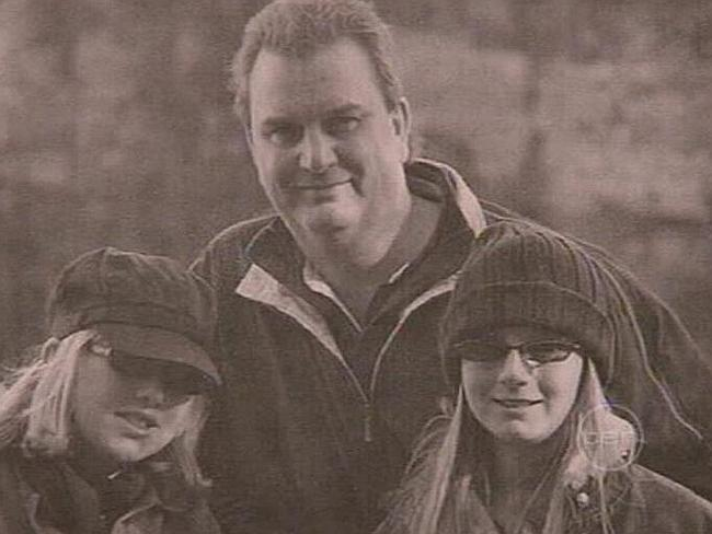 David Bridge with his daughters Jordan (13) and Makeely (11) / Picture: Channel 10