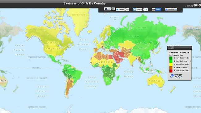 A map which is offensive to every single country in the world. Picture via Target Map