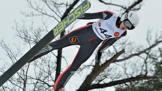Russia's Irina Avvakumova soars during a World Cup event.