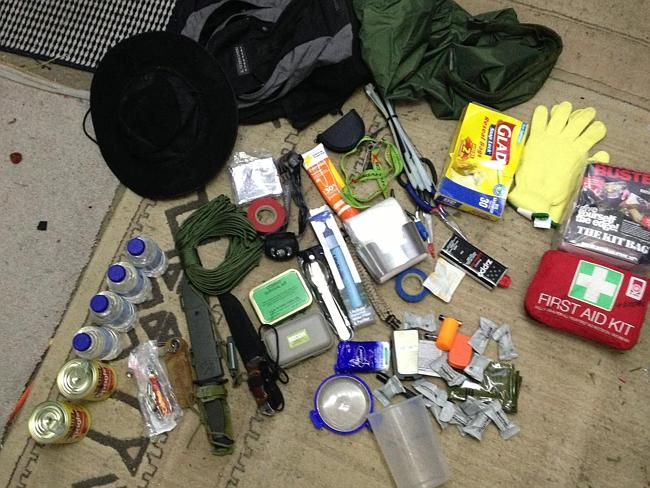 The contents of a bug out bag, which has what you need to last 72 hours. Pic: Screengrab
