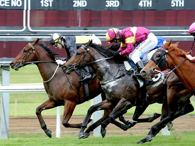 Aidan Holt's last victory as a jockey was on Pinch River at Ipswich in June. Picture: Mar