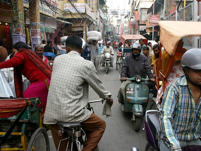 The chaotic streets of Delhi make it hard to breathe.