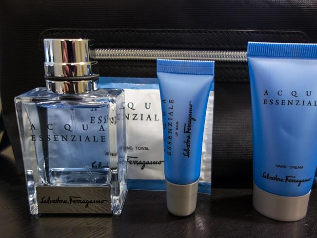 The amenity kit. Picture: Derek Low